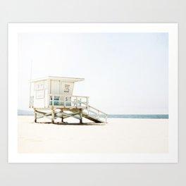California Beach Day Art Print