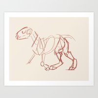 bull terrier Art Prints featuring Bull Terrier by Tooel