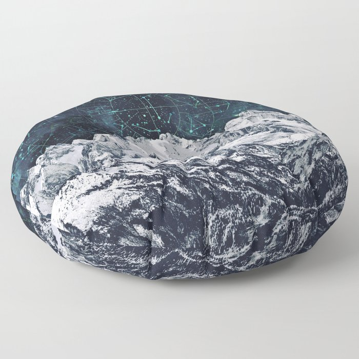 Constellations over the Mountain Floor Pillow