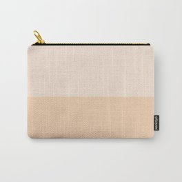 Half Apricot/Apricot Carry-All Pouch