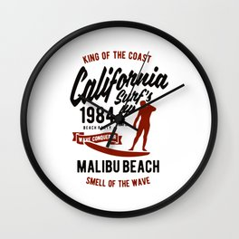 king of the coast california Wall Clock