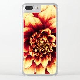 La Dahlia Red Clear iPhone Case