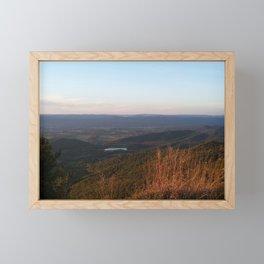 Fall Mountains Shenandoah valley Virginia Skyline Drive photograph by Katy Christoff Framed Mini Art Print