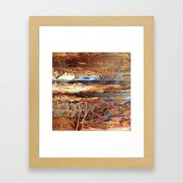 High Desert Abstract Framed Art Print