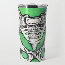 Watercolor and ink pelvis Travel Mug