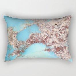 Rugged Turquoise Nugget Rectangular Pillow