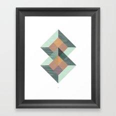 Translucent geometry Framed Art Print
