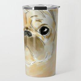 Pug face brown Travel Mug