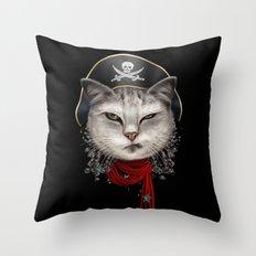 PIRATECAT Throw Pillow