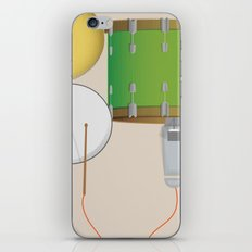 Drum Set Print iPhone & iPod Skin