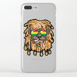 RASTA LION Joint Smoking Weed 420 Ganja Pot Hash Clear iPhone Case