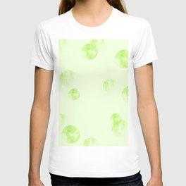 Watercolor Polka Dot-green T-shirt