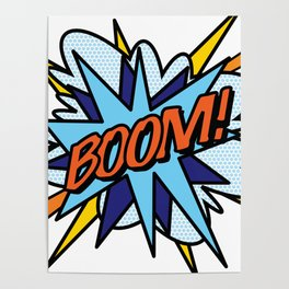 Comic Book Pop Art BOOM Poster