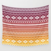 navajo Wall Tapestries featuring Ombré Navajo by Mark Baker-Sanchez