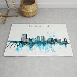 Richmond Monochrome Blue Skyline Rug