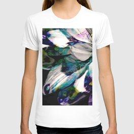 Fluid Nature - Marbled Daisy - Acrylic Pour & Photography T-shirt