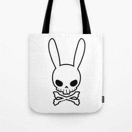Skull Bunny Tote Bag