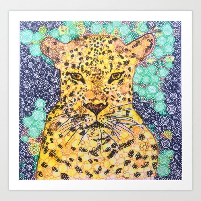 Leopard Lying In Wait Art Print