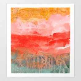 coral horizon Art Print