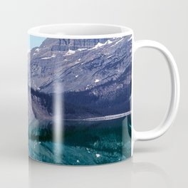 Bow Lake Water Reflections in the Canadian Rockies Coffee Mug
