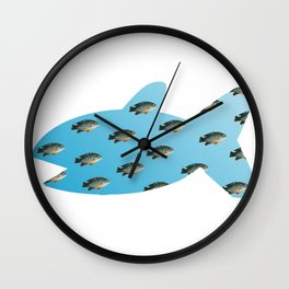 Fishy Outline Wall Clock