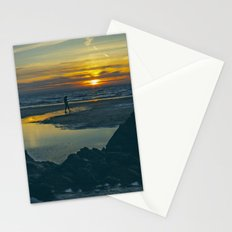 Walking at Sunset Stationery Cards