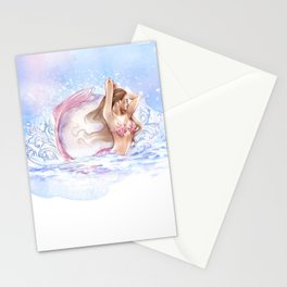 Moon mermaids Stationery Cards