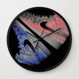 Red White and Blue J's Wall Clock