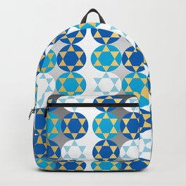 Star of David in Gold and Silver Backpack