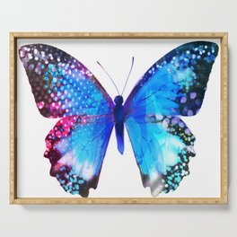 Big Blue Butterfly Serving Tray