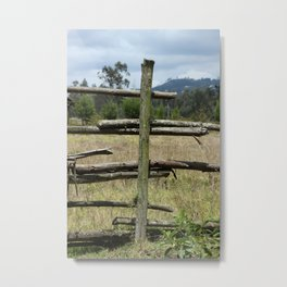 Wood Rail Fence in a Pasture Metal Print