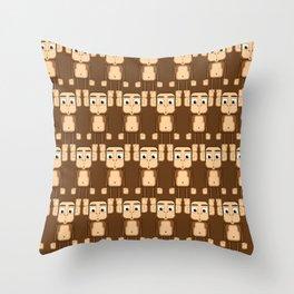 Super cute animals - Cheeky Brown Monkey Throw Pillow