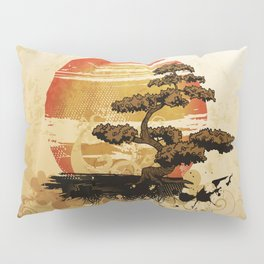 Bonsai Tree In The Sunset Pillow Sham