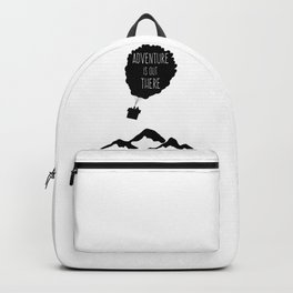 Adventure is out there Balloons House travel vacation explore Backpack