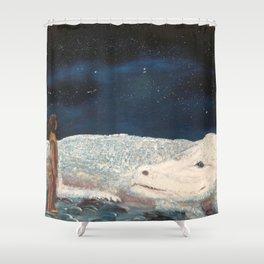 NeverEnding Story - Falkor Luckdragon - FAN ART Shower Curtain