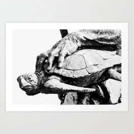Hand Turtle Art Print