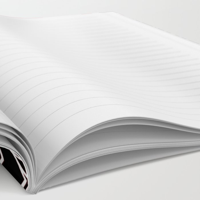 Black & Red Pattern Notebook