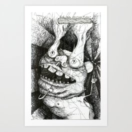 Smoke All Over the Place. Art Print