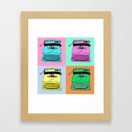 Let's warholize! Olivetti lettera22-style full of color Framed Art Print