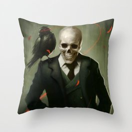 Skully Gentleman Throw Pillow