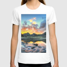 Sunset Landscape #river T-shirt