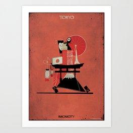 08_Tokyo_INKONICITIES Art Print