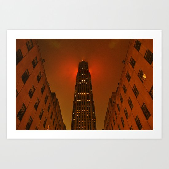 Rockefeller Center in the Rain Art Print