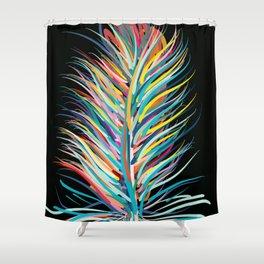 Rainbow Feather Peaceful Design Shower Curtain