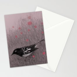 Pink Snow Stationery Cards