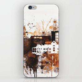 Brown Watercolor Tucson watercolor skyline iPhone Skin
