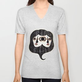 Asymmetry Unisex V-Neck