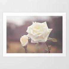 White Rose and Baby Art Print