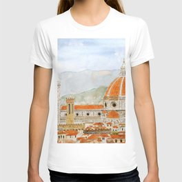 Italy Florence Cathedral Duomo watercolor painting T-shirt