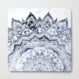 BLUE ORION JEWEL MANDALA Metal Print